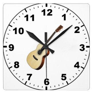 Guitarra de madera relojes guitarra de madera relojes de - Reloj de pared de diseno ...
