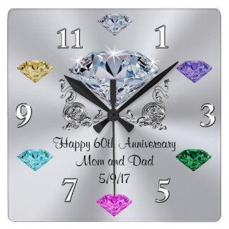 Relojes del aniversario de Birthstone del pedido