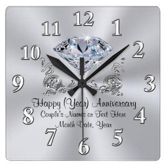 Relojes del aniversario del diamante con su TEXTO