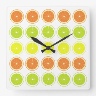 Relojes frescos de la cocina del tema de la fruta