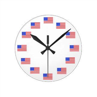 Relojes patrióticos de la bandera americana de los