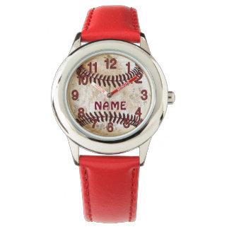 Relojes personalizados del béisbol para los