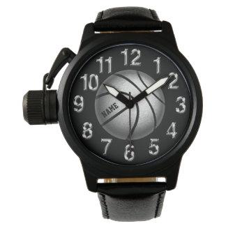 Relojes personalizados deportivos del baloncesto