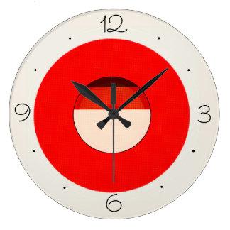 Relojes simplistas rojos de Black> de la crema