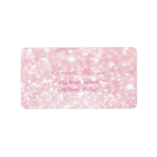 Reluciente rosado atractivo elegante, Bokeh Etiquetas De Dirección