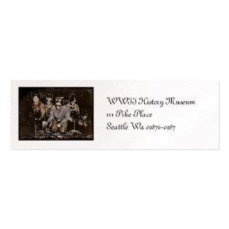 Remachadores WWII de Rosie del afroamericano Tarjetas De Visita Mini