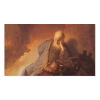 Rembrandt-Luto sobre la destrucción de Jerusalén Tarjetas De Visita