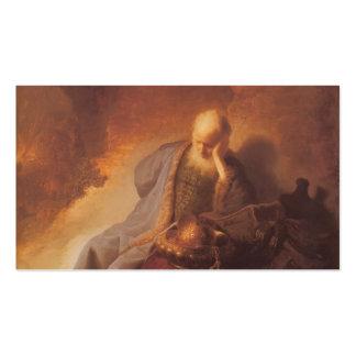 Rembrandt-Luto sobre la destrucción de Jerusalén Plantillas De Tarjeta De Negocio