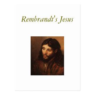 rembrandt-portrait-of-christs-head-1650, Rembra… Postal