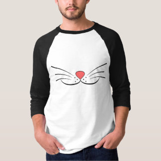 Remera Hombre Kitty Moustache