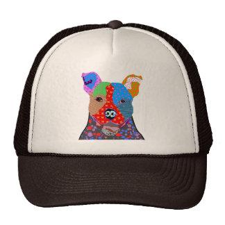 Remiendo colorido Amstaff - gorra del camionero de