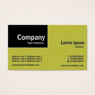 Remiendo cuarto - textura grabada en relieve tarjeta de negocios