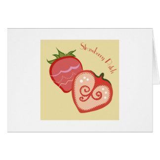 Remiendo de la fresa felicitación