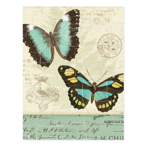 Remiendo de la mariposa tarjetas postales
