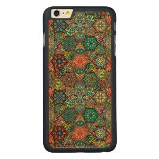 Remiendo del vintage con los elementos florales de funda de arce para iPhone 6 plus de carved