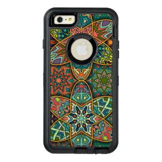 Remiendo del vintage con los elementos florales de funda OtterBox defender para iPhone 6 plus