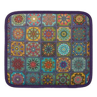 Remiendo del vintage con los elementos florales de funda para iPad