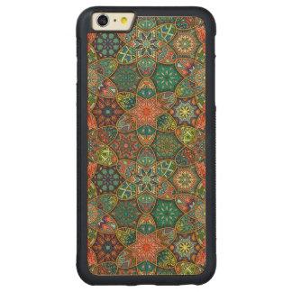 Remiendo del vintage con los elementos florales de funda protectora de arce para iPhone 6 plus de car