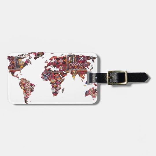 Remiendo indio de la tierra del mapa de la tela etiqueta para maletas