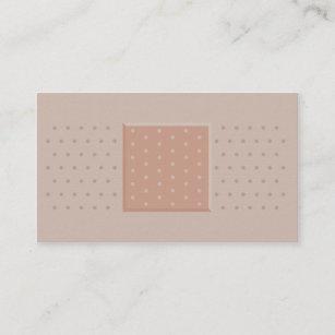 Remiendo médico del yeso de la tirita - tarjeta de