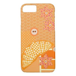 Remiendo moderno anaranjado con sabor a fruta funda iPhone 7