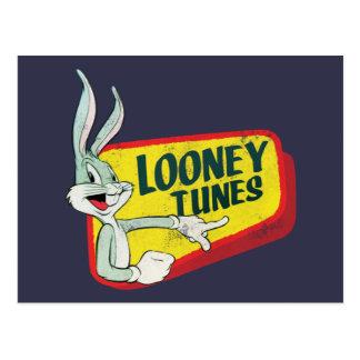 Remiendo retro LOONEY del ™ TUNES™ de BUGS BUNNY Postal