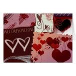 Remiendos del corazón tarjeta de felicitación