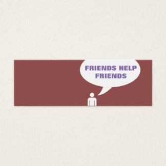 remisión cómica de la burbuja de los amigos de la tarjeta de visita pequeña