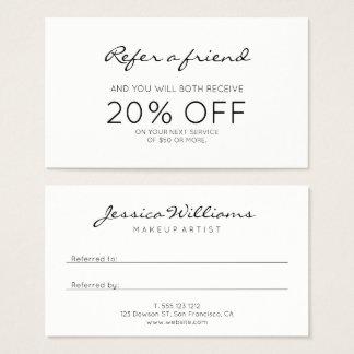 Remisión moderna minimalista tarjeta de negocios