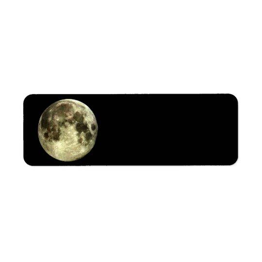 Remite de la Luna Llena Etiqueta De Remitente
