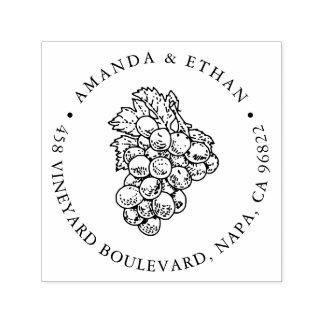 Remite de las uvas el | del vintage sello automático