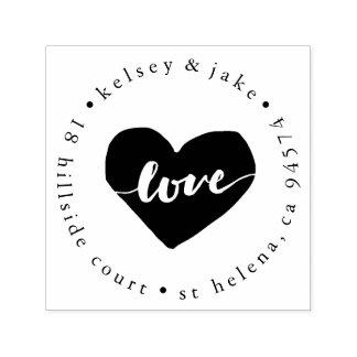 Remite del corazón del amor sello automático