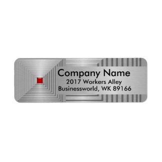 Remite del negocio etiqueta de remitente