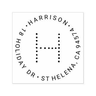 Remite redondo del monograma moderno sello automático