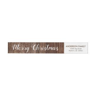 Remite rústico de las Felices Navidad de madera el