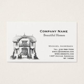 Remodelado del agente inmobiliario y del hogar tarjeta de visita