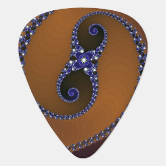 Remolino abstracto azul de Brown Púa De Guitarra