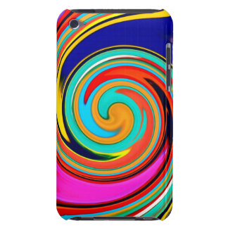 Remolino abstracto colorido vibrante de creyones d iPod touch funda