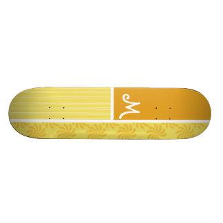 Remolino amarillo-naranja patines