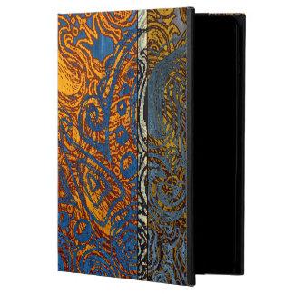 Remolino azul de Jean de tres tonos Funda Para iPad Air