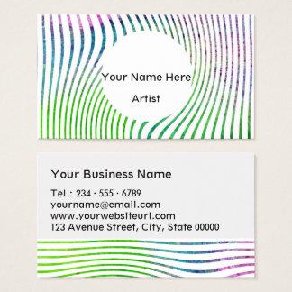 Remolino colorido de la raya de la acuarela tarjeta de visita