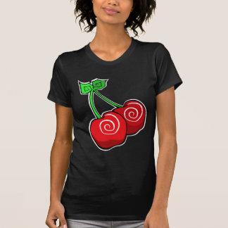 Remolino de la cereza camiseta