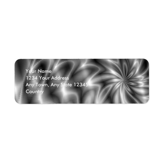 Remolino de plata etiqueta de remitente