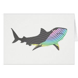 Remolino del tiburón del color tarjeta