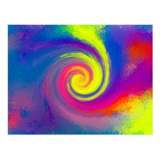 Remolino espiral abstracto maravilloso postal