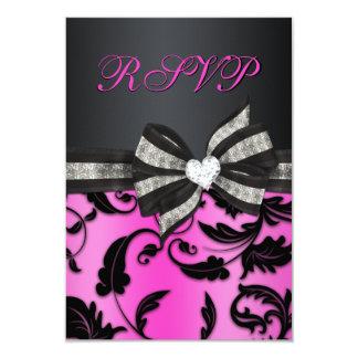 Remolino floral RSVP con el arco Jeweled Invitación 8,9 X 12,7 Cm