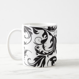 Remolino negro taza de café