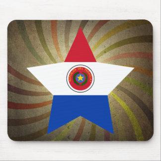 Remolino paraguayo de la bandera del vintage alfombrilla de ratón