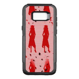 Remolino rayado rojo de los chicas del graduado funda otterbox commuter para samsung galaxy s8+
