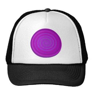 Remolino retro del caramelo en ciruelo púrpura gorras